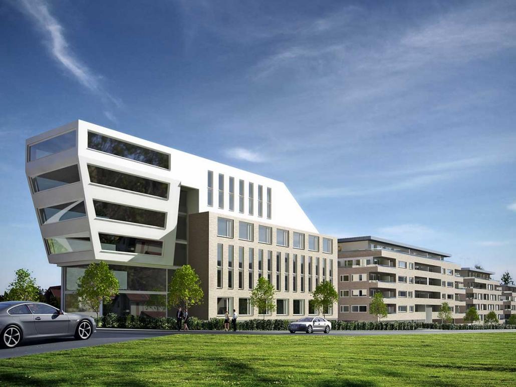 Gewerbe- und Wohnbebauung, Paderborn-Nordbahnhof